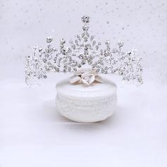 Nydelig Rhinestone/Legering Tiaraer med Perle (Selges i ett stykke) (042227740)