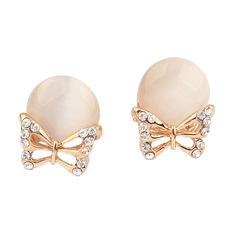 Butterfly Shaped Alloy/Resin With Rhinestone Ladies' Earrings