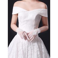 Кружева Наручные длина Свадебные перчатки с Кружева (014227412)