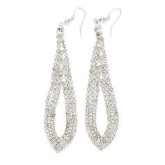 Elegant Alloy/Rhinestones Ladies' Earrings