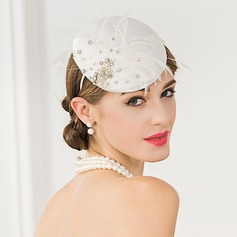 Dames Spécial/Romantique/Artistique Polyester avec Feather Chapeaux de type fascinator