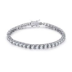Geplatineerd Tennis Bruids armbanden met Kubieke Zirkonia - Valentijnsgeschenken Voor Haar