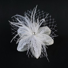 Mode Feather/Dentelle Chapeaux de type fascinator