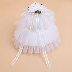 Zarte Ring-Kasten mit Bänder/Faux-Perlen