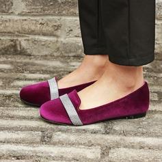 Женщины Замша Плоский каблук На плокой подошве с блестками обувь