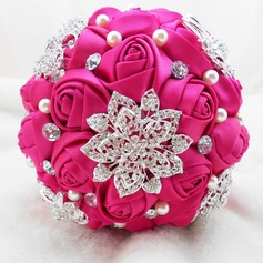 Attractive Redondo Cetim Buquês de noiva -