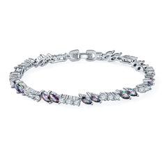 Уникальный Платина покрыли с Циркон женские Модные браслеты