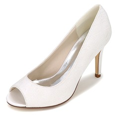 Spets Stilettklack Peep Toe Pumps