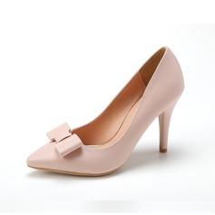 De mujer Cuero Tacón stilettos Salón con Bowknot zapatos