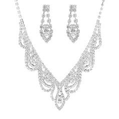 Уникальный медь/посеребренный с горный хрусталь женские Комплекты ювелирных изделий