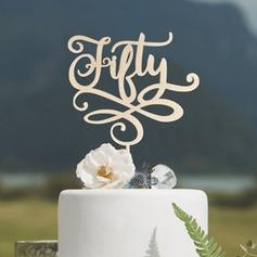 Aniversario/Cumpleaños Acrílico/Madera Decoración de tortas