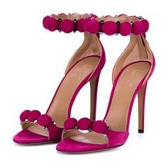Donna Camoscio Tacco a spillo Sandalo Stiletto Punta aperta con Altrui scarpe