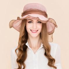 Señoras' Elegante Seda con Bowknot Disquete Sombrero