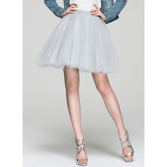 A-Line/Princess Short/Mini Tulle Cocktail Skirt