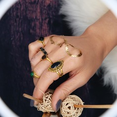 Chic Legering Resin Damer' Mode Ringar (Sats om 5)