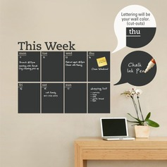 PVC Week Shape Blackboard Sticker  (Sold in a single piece)