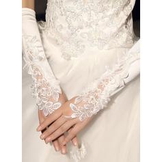 Spitze Handgelenk Länge Braut Handschuhe mit Bestickt