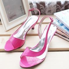 De mujer Cuero Tacón stilettos Sandalias Salón Encaje Solo correa con Hebilla Otros zapatos