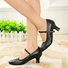 Vrouwen Echt leer Pumps Character Shoes Dansschoenen