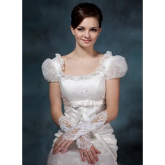 Satin Elbow Length Bridal Gloves