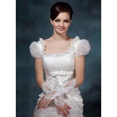 Satäng Elbow Längd Handskar Bridal