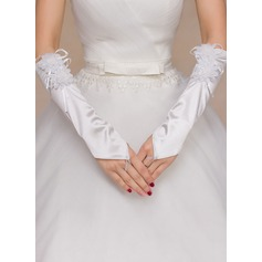 Polyester Elbow Length Bridal Gloves