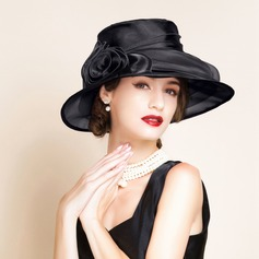 Ladies' Glamourous With Flower Floppy Hats/Kentucky Derby Hats/Tea Party Hats
