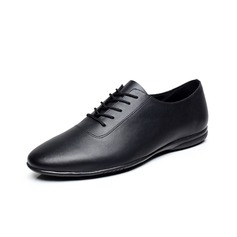 Men's Real Leather Flats Sneakers Practice Dance Shoes (053080771)