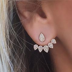 Smukke Legering/Rhinsten Ladies ' øreringe