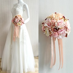 Sweet Satin Bridal Bouquets/Bridesmaid Bouquets -