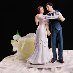 """Estatueta """"Nós Fizemos"""" Resina Casamento Decorações de bolos"""