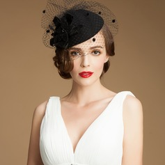 Ladies' Beautiful Autumn/Winter Wool/Net Yarn With Fascinators (196075278)