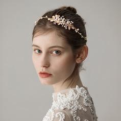 Dame Elegant Legering Pandebånd med Venetiansk Perle (Sælges i et enkelt stykke)