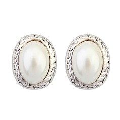 Beautiful Alloy With Imitation Pearl Ladies' Fashion Earrings