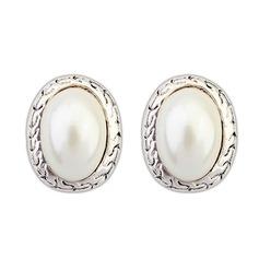 Vackra Och Legering med Oäkta Pearl Damer' Mode örhängen