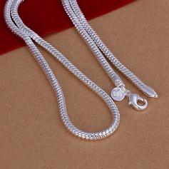 Orm Formad Silver Koppar Män Mode Halsband
