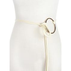 Elegante/Simple PU Cinturón con Aleación