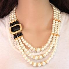 Beau Alliage Strass De faux pearl avec Perle d'imitation Strass Dames Parures