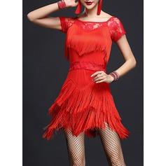 Mulheres Roupa de Dança Spandex do Renda Dança Latina Vestidos