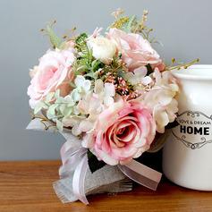 Hübsche Rund Seide Blumen Brautsträuße - Brautsträuße