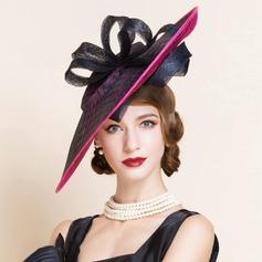 Senhoras Moda Verão Cambraia com Chapéu de Coco / Cloche de Chapéu