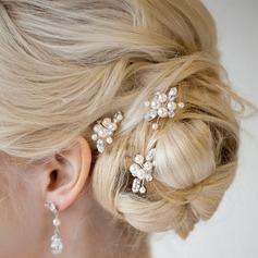 Damen Schön Legierung/Faux-Perlen Haarnadeln (Set von 2) (042123790)
