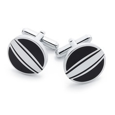 Simple Round Zinc Alloy Cufflink (Set of 2)