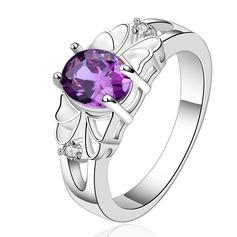 Элегантные медь/Циркон/посеребренный женские кольца