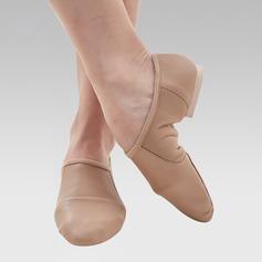 Kvinner Egte Lær Flate sko Jazz Dansesko