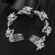 Ladies Gorgeous Alloy Headbands With Rhinestone (Sold in single piece)