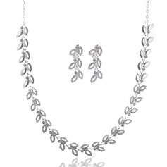 Bonito Liga com Strass Senhoras Conjuntos de jóias