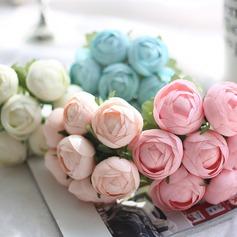 Simples et élégant Rond Satiné Bouquets de mariée -