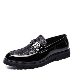 Hombres Brillo Chispeante Horsebit Mocasines Casual Zapatos de vestir Mocasines de caballero (260207996)
