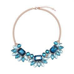 Mode Legierung Glas Frauen Mode-Halskette